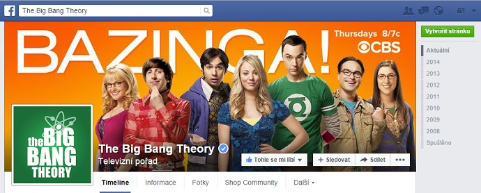 The Big Bang theory Facebook